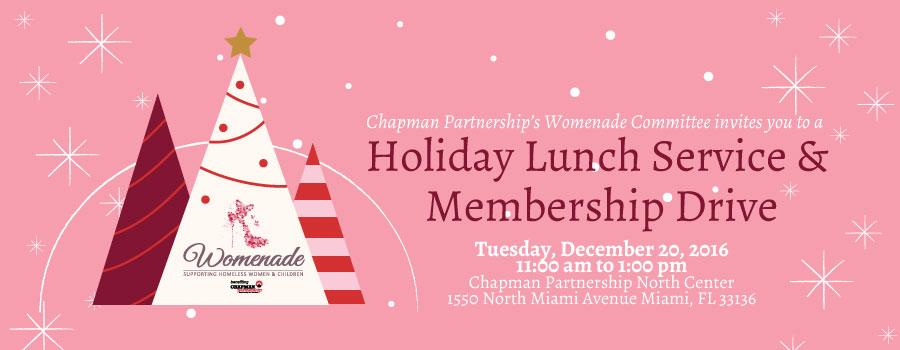 Womenade holiday lunch service membership drive chapman partnership womenade holiday lunch service membership drive m4hsunfo