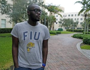 Terrence Nickerson attends Florida International University. In high school, he was homeless during his senior year. CHARLES TRAINOR JR ctrainor@miamiherald.com