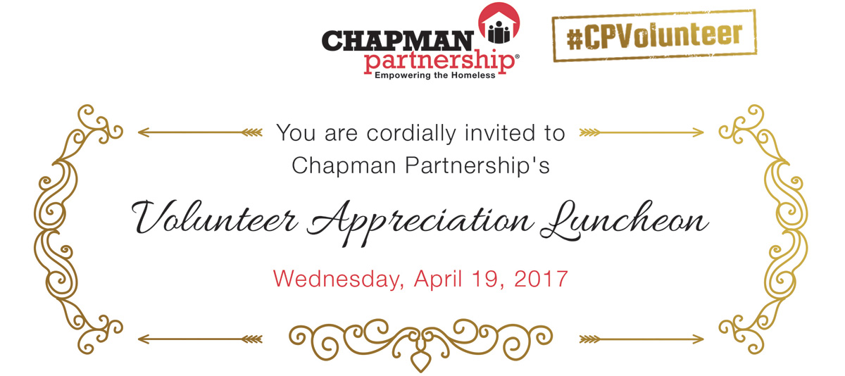 Volunteer Appreciation Luncheon Chapman Partnership
