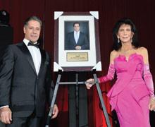 Alvah H. Chapman Jr. Humanitarian Award Recipient Alberto Carvalho and Trish Bell